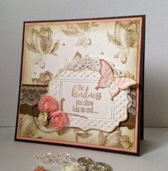 Card made with Lotus Blossom stampset.