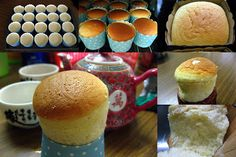 Hokkaido Chiffon Cupcakes Recipe shared by Mindi Ingredients Cupcak es: 2 cups Cake flour 1 tbsp Baking powder ½ t. Hokkaido Cupcake, Cake Flour, Box Cake, Some Recipe, Cupcake Recipes, Muffin, Chiffon, Cupcakes, Baking