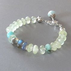 Prehnite Labradorite Bracelet Peruvian Opal Amazonite Hemimorphite