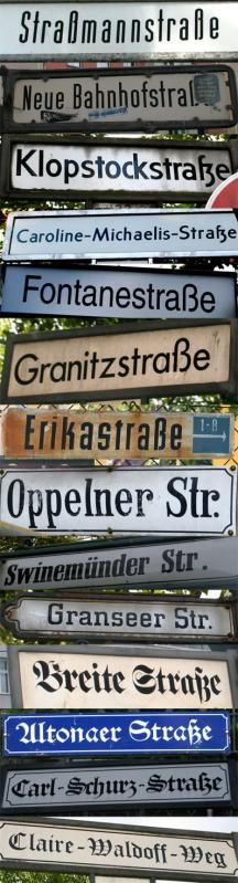 24 Different Typefaces Used for Berlin Street Signs