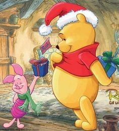 Micimackó / Winnie the Pooh Winnie The Pooh Christmas, Cute Winnie The Pooh, Winne The Pooh, Winnie The Pooh Quotes, Disney Christmas, Eeyore, Tigger, Ghibli, Christmas Cartoons