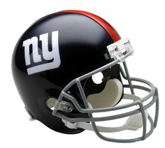 New York Giants NY Full Size Throwback Replica Autograph Helmet