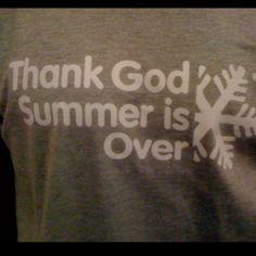 For alle os, som bare elsker skiferie! Set på t-shirt hos Indoor ski i Rødovre :-)
