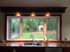 Kitchen window framed