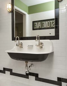 Cool sink and tiles