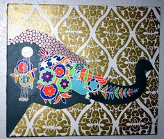 Moroccan//Bohemian//Indian Decorative Elephant by averycampbellART, $100.00