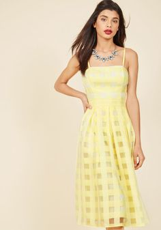 Sweet Sunday Midi Dress in Buttercup in 2X, #ModCloth