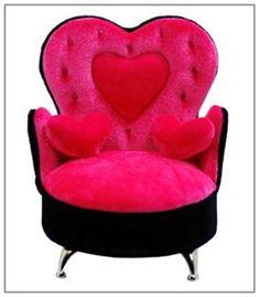 Www.brokencherry.com #jewelrybox #rocknroll #rockabilly Heart Shaped Back  Chair Jewelry