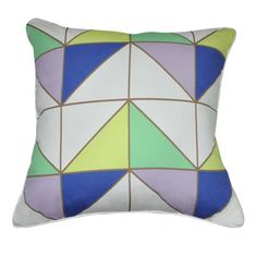 Geometric II Cotton Throw Pillow