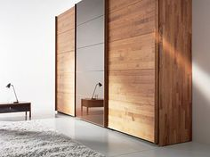 Solid Wood Wardrobe by Team 7 Valore sliding door wardrobes are 'green' is part of Wardrobe doors - wood Decoration Wall Sliding Doors Solid Wood Wardrobe by Team 7 Valore sliding door wardrobes are 'green' Bedroom Closet Doors, Bedroom Cupboards, Bedroom Wardrobe, Wardrobe Closet, Office Cupboards, Hallway Closet, Modern Sliding Doors, Sliding Wardrobe Doors, Wooden Wardrobe