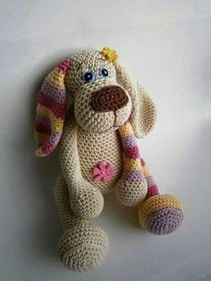 In this article we will introduce you the best models of amigurumi crochet dog patterns. Crochet Patterns Amigurumi, Amigurumi Doll, Crochet Dolls, Amigurumi Tutorial, Cute Crochet, Crochet Crafts, Crochet Projects, Dog Crochet, Crochet Braid