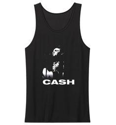 New Johnny Cash Rock N Roll Logo Tank Top