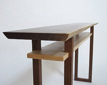 Live Edge Console Table- narrow sofa table, live edge hall table, wood slab entry table- Minimalist Wood Furniture- CLASSIC COLLECTION