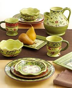 dinnerware | ... and Green Dinnerware and Olive Green Glass Dinnerware for your Home