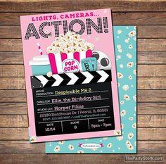 Movie Party Invitation  Printable Girls Movie by thepartystork