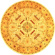 Safavieh Handmade Tribal Ivory/ Gold Wool Rug (6' Round) ($153) ❤ liked on Polyvore featuring home, rugs, ivory, wool area rugs, round area rugs, cream rug, beige rugs and gold rugs