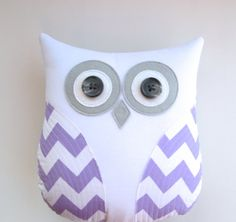 decorative pillow lavender and white chevron by whimsysweetwhimsy, $34.00