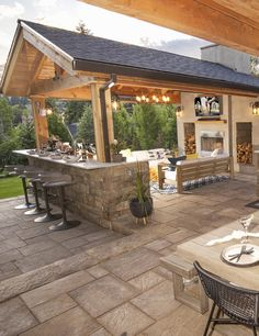 You'll love this quick video - start to finish makeover Backyard Pavilion, Backyard Patio Designs, Backyard Landscaping, Backyard Ideas, Backyard Bar, Patio Ideas Bbq, Backyard Pools, Pergola Patio, Pergola Ideas