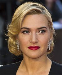 Kate Winslet Hairstyle: Formal Updo Medium Curly Hairstyle