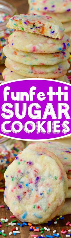 These Funfetti Sugar Cookies are crisp on the outside, buttery soft on the…