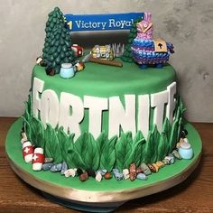 Best representation descriptions: Fortnite Birthday Cake Related searches: Fortnite Birthday Cakes,Fortnite Cake Locations,Fortnite Cake Id. 40th Birthday Cakes, 9th Birthday Parties, 12th Birthday, Birthday Ideas, Bus Cake, Cakes For Boys, Fondant Figures, Cute Cakes, Cake Creations