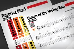 """RECORDER SHEET MUSIC: House of the Rising Sun w/ Fingering Chart[Recorder, Flute, Violin or Oboe] """"The House of the Rising Sun"""" is a traditional folk song from the United States.Sheet Music Features:* Big notes with names on heads* Embedded Audio Files - click and play!* QR Code - for later listening* Practicing Chart* Read & Learn: History of the Recorder* Read & Learn: Ten TIPS for BETTER PRACTICING* Read & Learn: Stage Fright  A Detailed Definition And How To Deal With It* Bla..."""