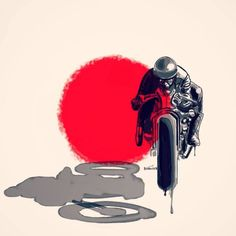 Ideas Red Cars Accessories Autos For 2019 Motorcycle Posters, Motorcycle Art, Bike Art, Art Moto, Bike Tattoos, Bike Illustration, Pinstriping, Bike Design, Bobber