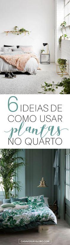 As plantas ideais para usar no quarto!