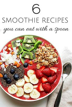 By slowing down and eating your smoothie with a spoon, you'll be more likely to feel full and satisfied, but still load up on all those nutritious fruits and veggies. Plus, smoothie bowls are the perfect way to lighten up hot breakfasts like oatmeal for spring. #smoothierecipes #everydayhealth | everydayhealth.com