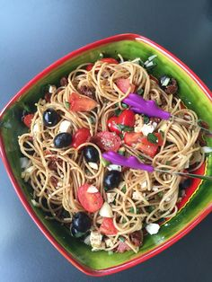 Spaghettisalat mit getrockneten Tomaten und Pinienkernen – Zimtsternchen