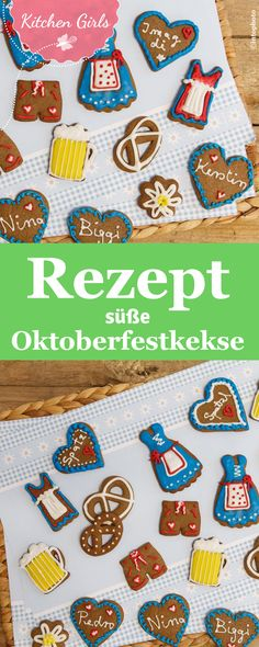 Oktoberfest-Kekse Small gingerbread biscuits for Oktoberfest: conjure up these little treats as a souvenir. Oktoberfest Party, German Oktoberfest, Caramel Shortbread, Ginger Bread Cookies Recipe, Caramel Recipes, Macaroons, Quick Easy Meals, Gingerbread Cookies, Art Berlin