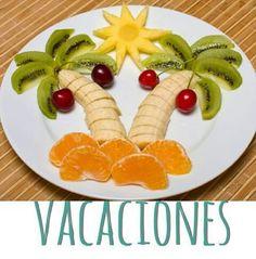 Kiwi, banana, uvas, mandarina y piña, emulando una soleada mañana de verano.