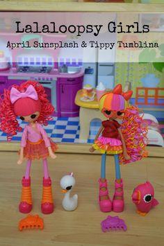 Fun with Lalaloopsy Tinies and Lalaloopsy Girls April Sunsplash and Tippy Tumblina and Lalaloopsy Tinies - Cori's Cozy Corner
