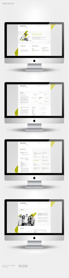 A successful and contemporary visual identity and web design, created by Marcin Przybys and Ania Szerszen for Dante Software. Layout Site, Web Layout, Page Layout, Layouts, Web Design, Graphic Design, Visual Identity, Brand Identity, Funny Design