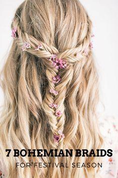 boho braid for Coachella