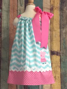Peppa Pig Birthday Outfit-Peppa Pig Pillow Case Dress-Pillow Case Dresses-Girls dresses-Peppa Pig-Toddler outfit-toddler Dress- by CuteCoutureByShelley on Etsy https://www.etsy.com/listing/398944657/peppa-pig-birthday-outfit-peppa-pig