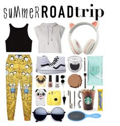 """""""Comfy and Cute Travel"""" by red-insanity-love on Polyvore featuring Urban Decay, WithChic, adidas, New Look, MAC Cosmetics, Clarins, Bling Jewelry, BlackMoon, Vans and Sephora Collection"""