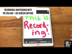 Learn how recording the iPad screen can turn the creation app Pic Collage into an interactive whiteboard and movie maker with the iOS 11 screen recorder.