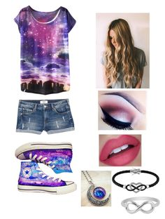 """""""Untitled #24"""" by superfabulouzz ❤ liked on Polyvore featuring MANGO, Converse and Jewel Exclusive"""