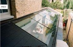 Lovely side return glass roof