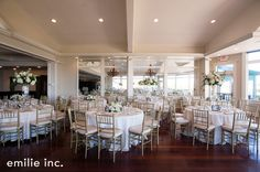 white wedding reception tables | Newport, Rhode Island  at the Ocean Cliff mansion | emilie inc. photography