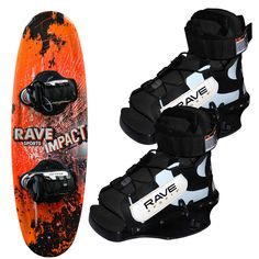 RAVE Jr. Impact Wakeboard w/Charger Boots - https://www.boatpartsforless.com/shop/rave-jr-impact-wakeboard-wcharger-boots/