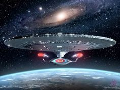 USS Enterprise. I love the hopeful view of the future that Star Trek presents: All (human) races get along, matter replicators can produce anything so money and greed are obsolete, interstellar travel is possible, and there is no paper clutter! :-)