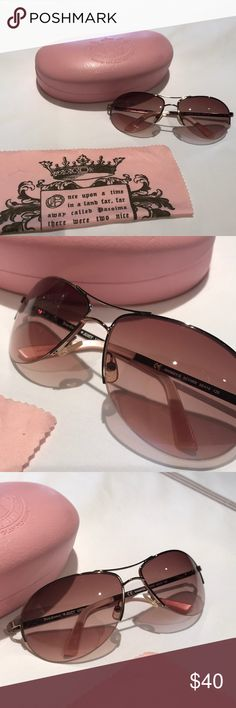 Juicy Couture Sunglasses Juicy Couture Sunglasses. Pink Undertone. One small scratch on right lens (so small, I couldn't get it to pick up in the picture). Comes with case and dust cloth. Juicy Couture Accessories Glasses