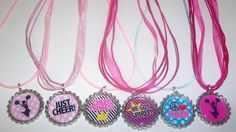 CHEERLEADING Bottlecap Necklace/Zipper Pull by sweetpeaonlinegifts, $19.99