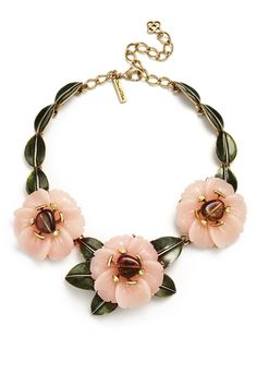 Oscar de la Renta Peony Statement Necklace