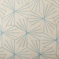 Dandelion - milk/azure hexagonal tile