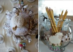 Sweet Little Lambie Baby Shower Inspiration #baby #shower #table