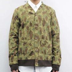 The KIKS TYO Camo Cardigan Enhances the Army Look #menswear trendhunter.com
