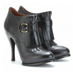 McQ Alexander McQueen Brogued Leather Ankle Boots